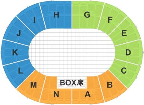 大阪城ホール スタンド座席表