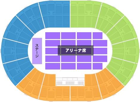 大阪城ホール アリーナ座席表