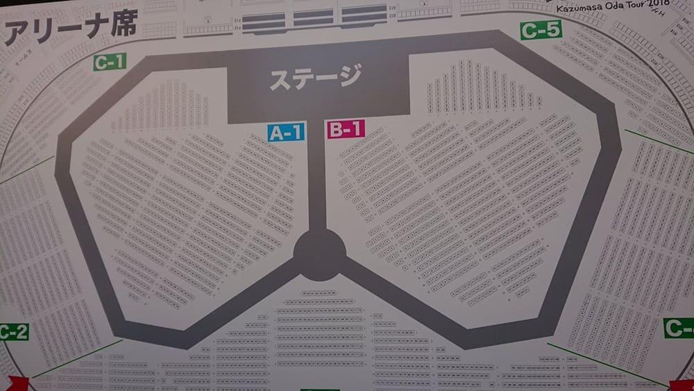 小田和正 TOUR2018 ENCORE!! 広島グリーンアリーナ 座席表