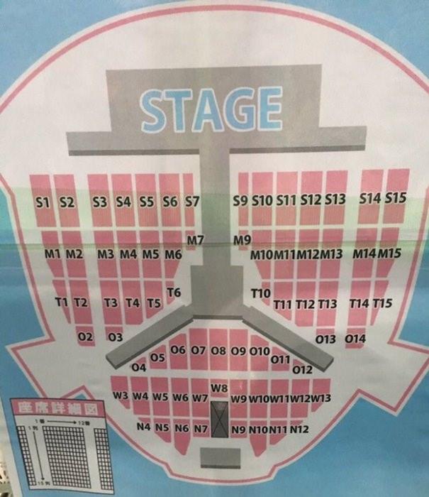 SMTOWN LIVE IN OSAKA 座席表