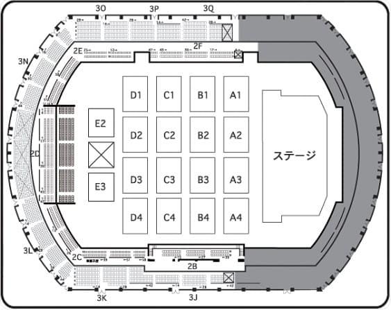 長野ビッグハット アリーナ座席表