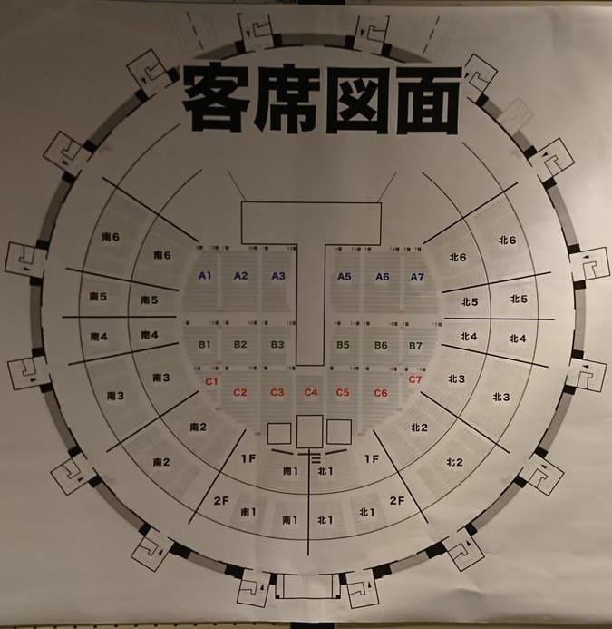 Mr.Children Live Tour 2018-2019 重力と呼吸 サンドーム福井 アリーナ 座席表