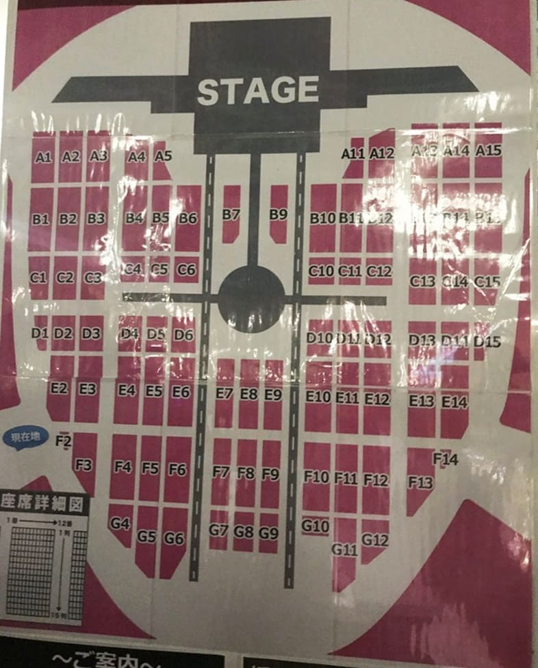 "TWICE DOME TOUR 2019 ""#Dreamday"" 京セラドーム大阪 アリーナ構成・座席表"