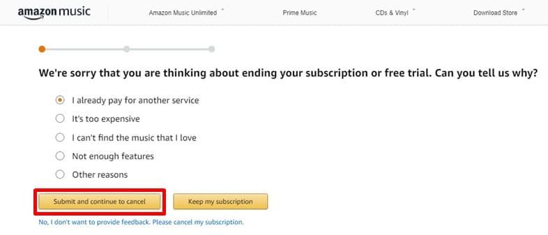 解約すると アマゾンミュージック