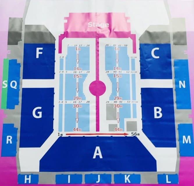 aiko Live Tour「Love Like Pop vol.21」 マリンメッセ福岡 アリーナ構成・座席表