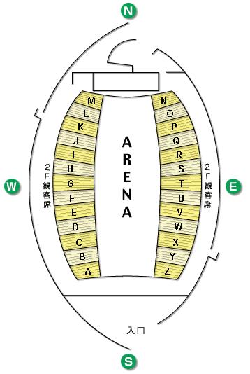 宮城セキスイハイムスーパーアリーナ 座席表