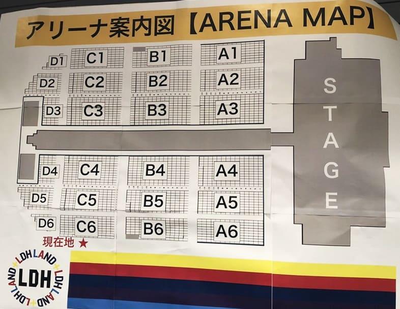 THE RAMPAGE LIVE TOUR 2019 THROW YA FIST 和歌山ビッグホエール アリーナ構成・座席表