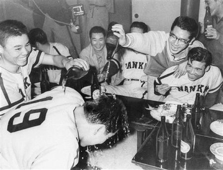 1959年南海ホークスのビールかけ